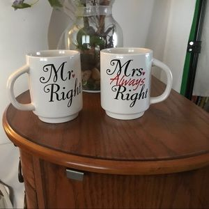 Great Gift!  Mr. and Mrs. mugs. Like new condition